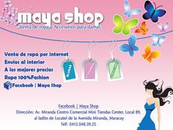 Maya Shop, Venta de Ropa por Internet, catalogo online